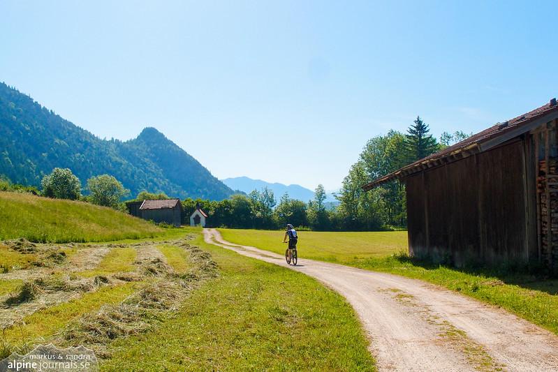 """This wonderful rural road """"Zirmenweg"""" lies between Zirmen on the right and river"""