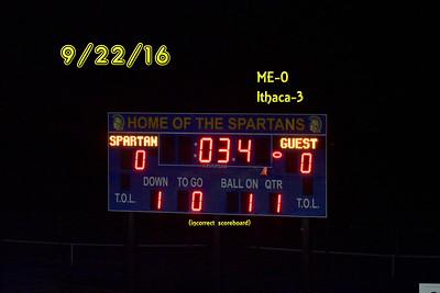 ME (0) Ithaca (3) Boys Varsity Soccer 9/22/16