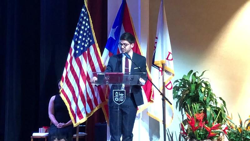 Angelo Fernández, Class of 2015 - Alumni Guest Speaker