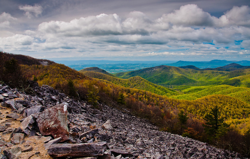 View of Appalachian Mountains from Blackrock Summit, Shenandoah National Park, Virginia