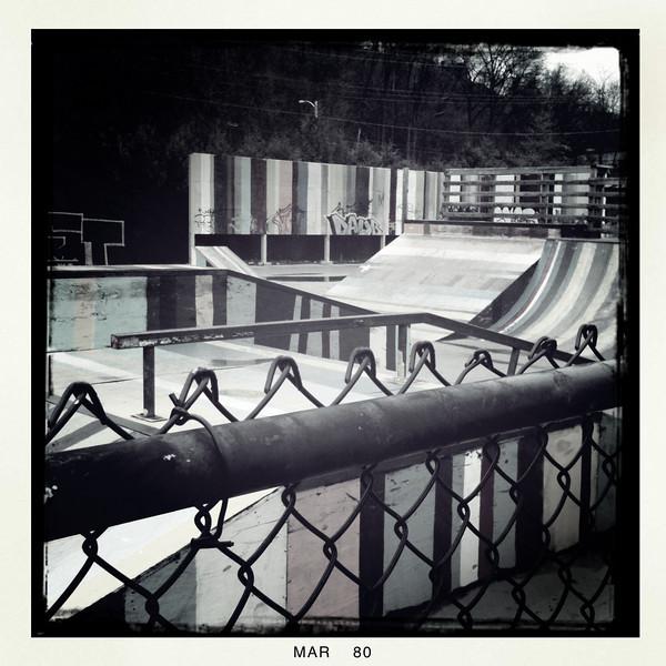 Burlington Skate Park - Burlington, VT Lens - Roboto Glitter Film - BlackKeys B+W