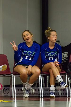 Lake Mary Prep @ Cornerstone Charter Academy Girls Varsity Volleyball - 2012
