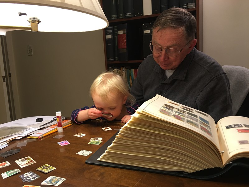 20160304 034 Kate helps Grandpa with stamps.JPG