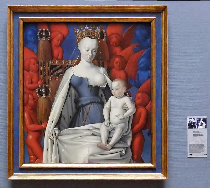 Jean Fouquet: Madonna mit Seraphinen und Cherubinen (Antwerpen, Museum der Schönen Künste)