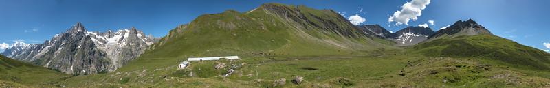 Le Grandes Jorasses e il Vallone di Malatrà - Courmayeur, Aosta, Italy - August 8, 2016