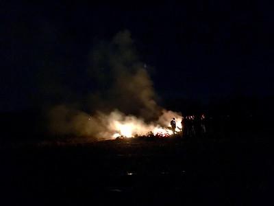 Boy scout bonfire in Billerica - January 12, 2019
