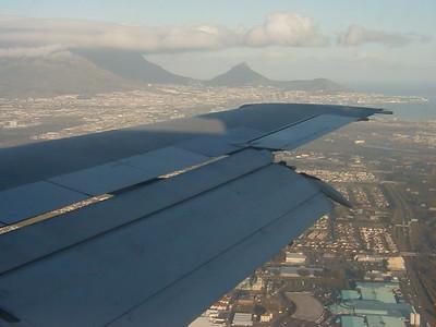 Cape Town landing views