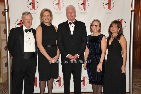 Robert Easton, Honorees Laura Schumacher, Paul B.Shields, and Sandra E. Peterson, Lily Safani