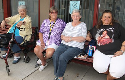 Hanging Out Outside Majestic House, Tamaqua (8-21-2014)