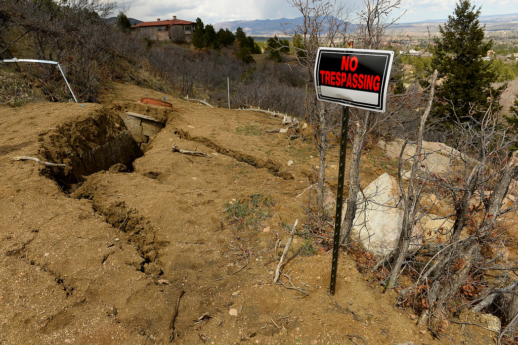 . Homeowners Denny and Sherry Cripps in their home in in Broadmoor Bluffs on April 11, 2016 in Colorado Springs, Colorado.  The Cripps are among 200 homeowners who have applied for federal bailouts because their home is being eaten up by collapsing expansive soil that is part of an ancient and massive landslide area.  Their home has cracked walls, uneven floors and is literally sliding down the mountain.  It is a problem that city officials have known about since the mid-1990\'s when city planners approved developments on what geologists have called some of the most unstable geology on the front range.  (Photo by Helen H. Richardson/The Denver Post)