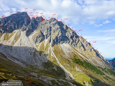 Grosser Widderstein Ostgrat (complete east ridge traverse)