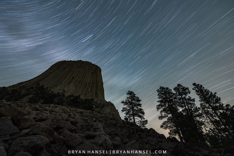 Devil's Tower Star Trails