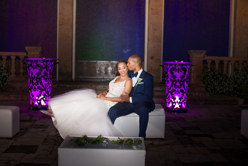 Bell Tower on 34th -  we walked out mid-reception to grab this shot of Teddi and Darren outside in front of the beautiful lit-up water wall. Tag: teddi, darren, TLC, Say Yes to the Dress, @realweddings , @celebstylewed , @kleinfeld , (let's tag as many accounts as possible, especially vendors) #huffpostido ,  , bell tower on 34th. // Hashtag: #celebrityweddings /  ESP Featured on Say Yes to the Dress!!! Our team flew out to Houston to photograph this beautiful  Wedding. Such an amazing experience.