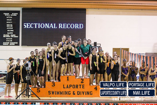 2016 La Porte Swimming and Diving Sectional Finals