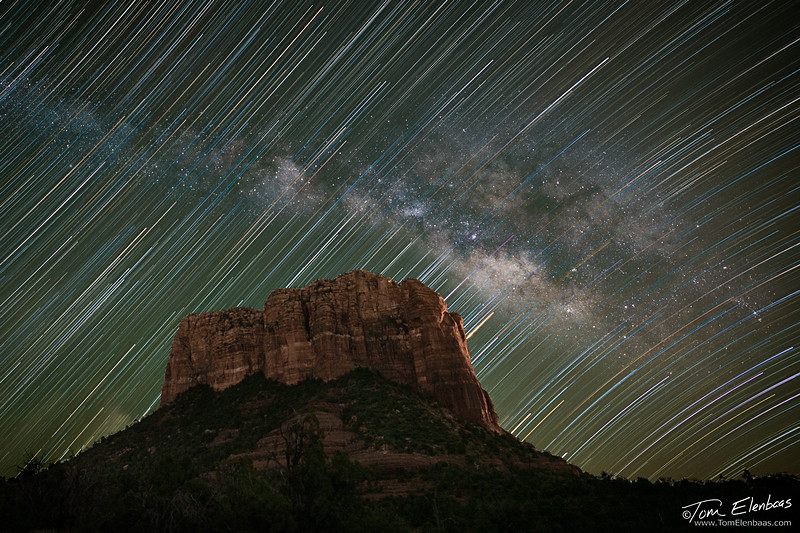 Courthouse Butte Trails and Milky Way