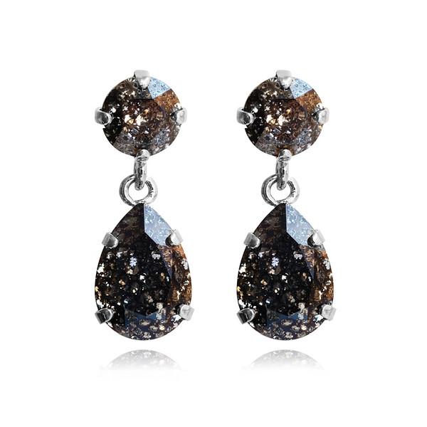Mini Drop Earrings / Black Patina / Rhodium