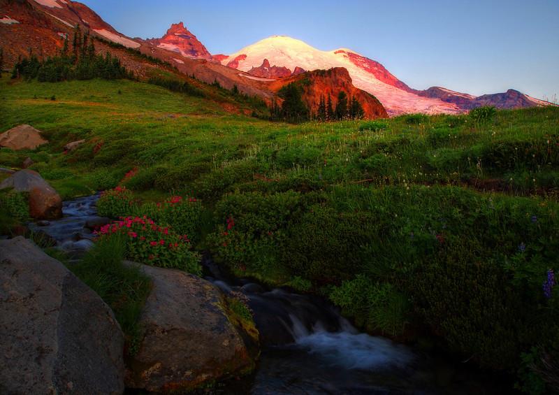 Sunrise on Mt. Rainier, Summerland