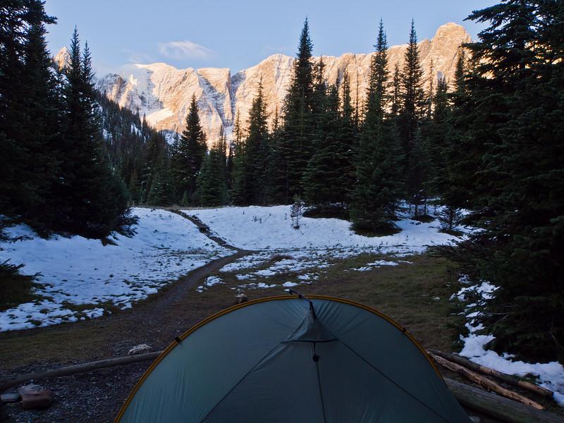 Tumbling Creek campsite - Kootenay National Park