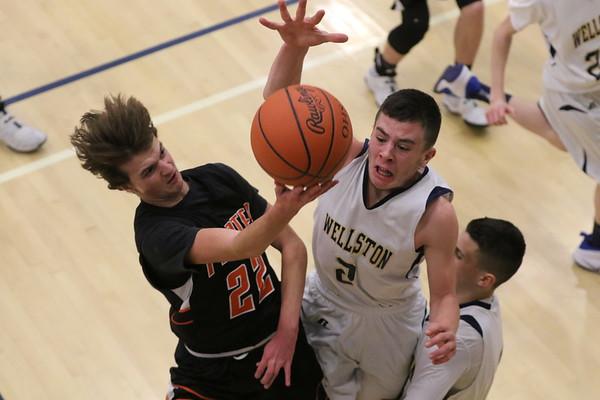 20JV Boys Basketball:  Wheelersburg at Wellston 2017