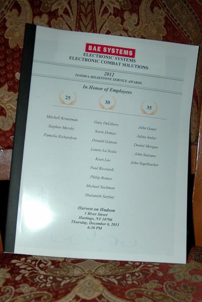 2012 ES ECS Service Award Dinner