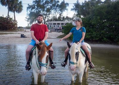 Elena and James Horse Swim