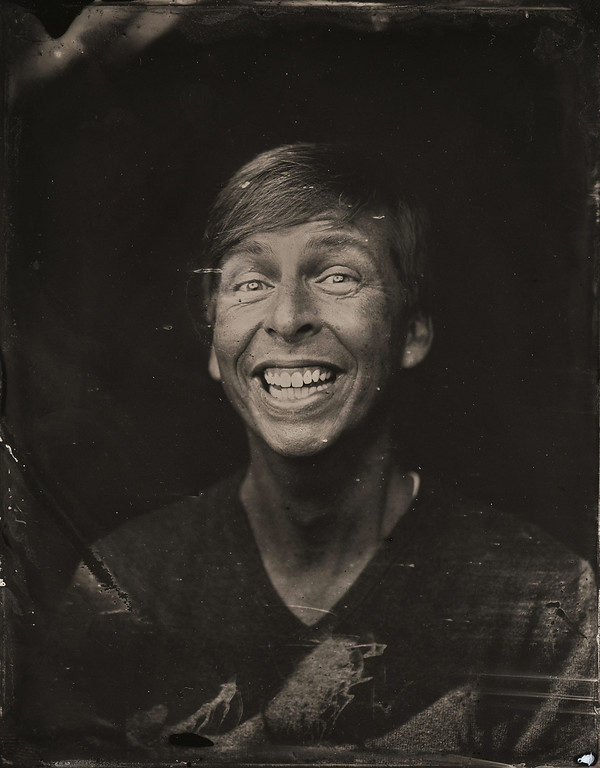 . Jack McBrayer poses for a tintype (wet collodion) portrait at The Collective and Gibson Lounge Powered by CEG, during the 2014 Sundance Film Festival in Park City, Utah. (Photo by Victoria Will/Invision/AP)