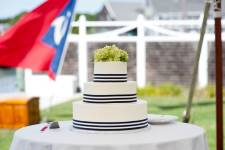 Classic nautical themed wedding cake by The Casual Gourmet