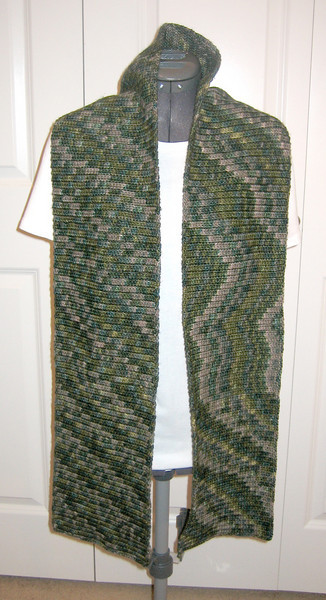 Trophy Scarf Made from Manos del Uruguay Silk Blend in Jungle (my own pattern)