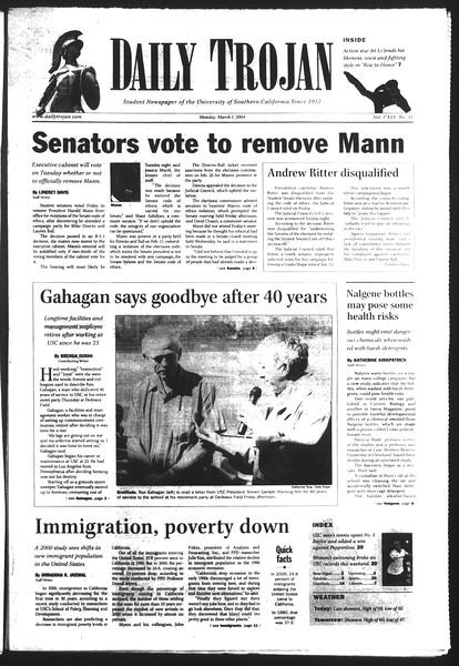 Daily Trojan, Vol. 151, No. 31, March 01, 2004