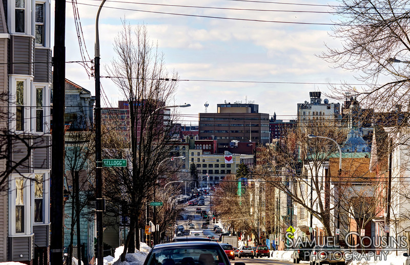 Looking down Congress St from Munjoy Hill.