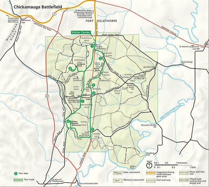 Chickamauga National Military Park Site Map