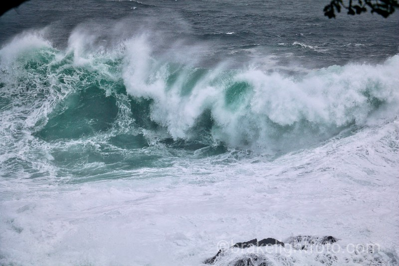 Large Wave at Amphitrite Point