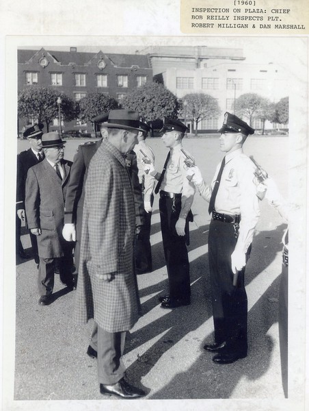 1960 Inspection Chief Robert Reilly inspects Robert Milligan and Dan Marshall