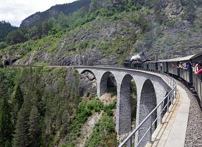 Rhaetian Railway steam, 2015