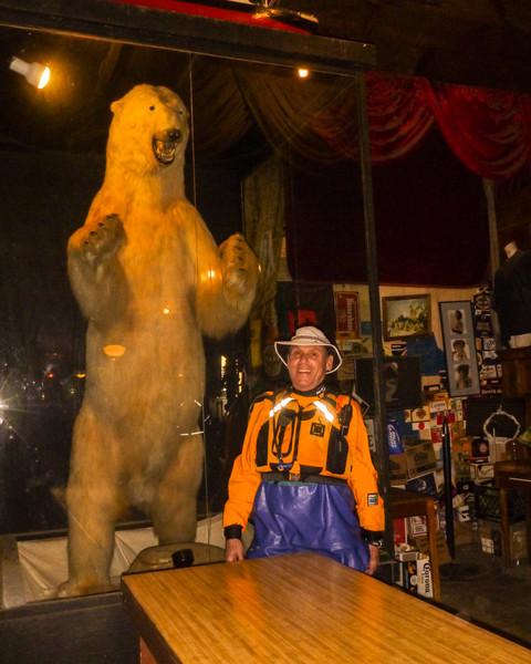 David seems to like the bear.