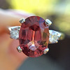 2.17ct Diamond & Spinel 3-Stone Ring 6