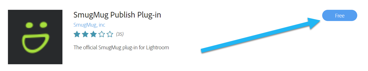 SmugMug Lightroom Plugin - Install button