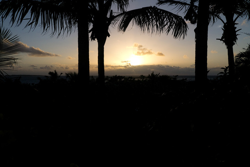 Sunrise from our room's balcony - La Plantation