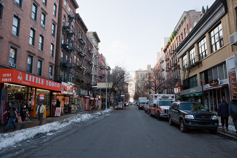 A view of St. Mark's place from 2nd avenue.