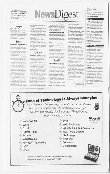 Daily Trojan, Vol. 141, No. 14, September 18, 2000
