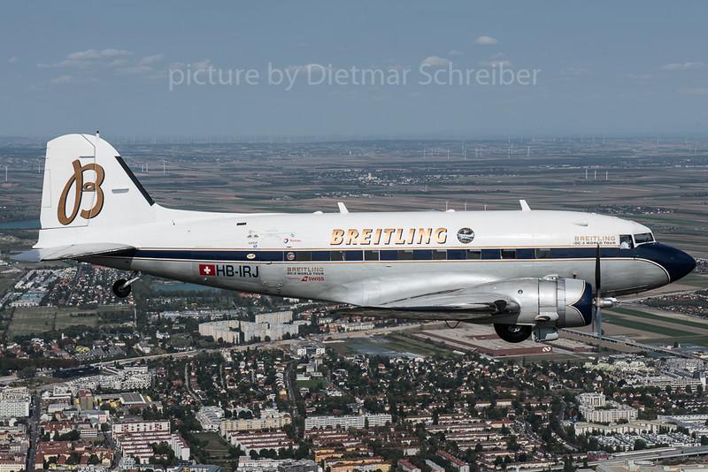 2017-09-08 HB-IRJ Douglas DC3 Breitling