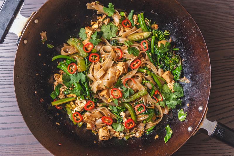 Thai Drunken Noodles with Tofu