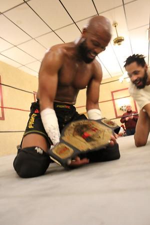 NCW Heavyweight Championship NCW Heavyweight Champion Todd Harris with Sierra vs. Osirus with Doc Ozone