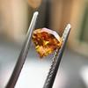 .84ct Fancy Deep Orange-Yellow Shield Shape Diamond, GIA 5