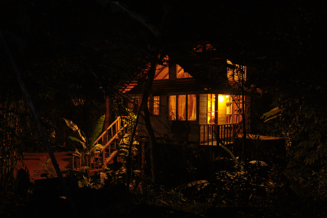 Nighttime View of the Thailand Tree House