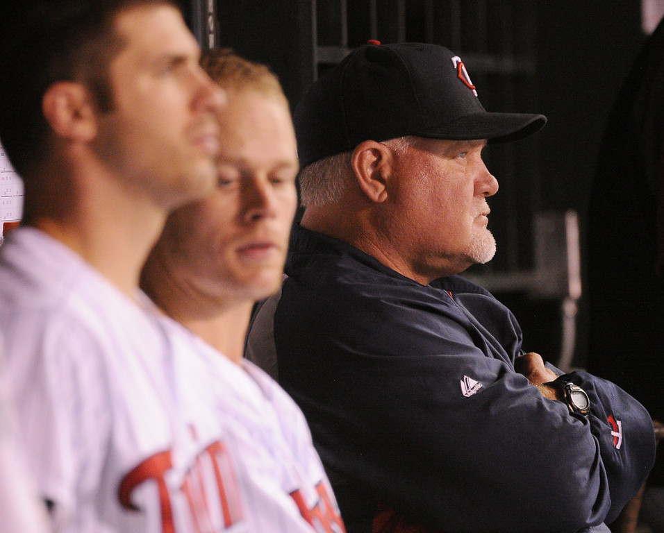 . Twins manager Ron Gardenhire looks on as his team loses again to the New York Yankees. (Pioneer Press: John Autey)