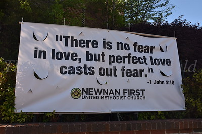 Prayer, Chalk Rally, Newnan Strong