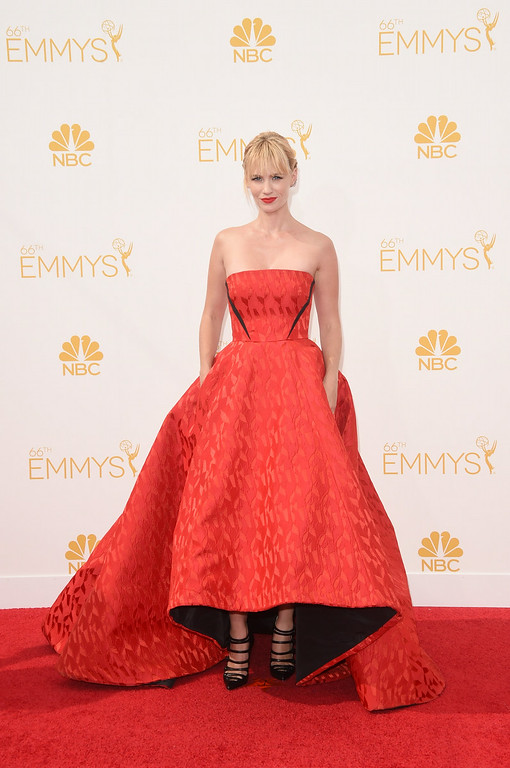 . Actress January Jones attends the 66th Annual Primetime Emmy Awards held at Nokia Theatre L.A. Live on August 25, 2014 in Los Angeles, California.  (Photo by Jason Merritt/Getty Images)