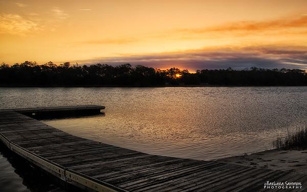 Sunrise over Intracoastal Waterway - Oak Island, NC