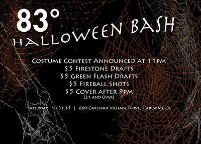 83 Degrees Halloween Bash 2015